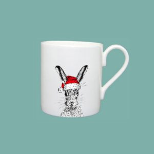 Little Weaver Arts - Christmas Sassy Hare Mug