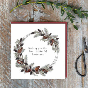 Toasted Crumpet Christmas Card -  Wishing You The Most Wonderful Christmas