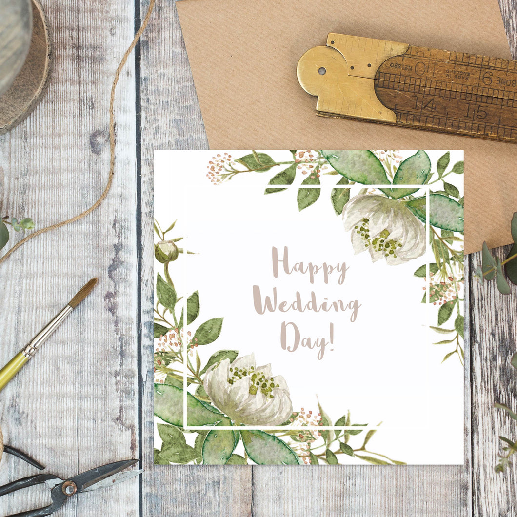 Toasted Crumpet - Happy Wedding Day  Greetings Card