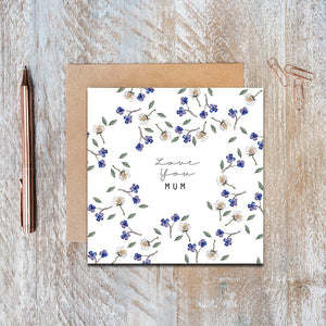 Toasted Crumpet - Love You Mum Greeting Card