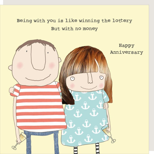 Rosie Made A Thing Greetings Card - Lottery