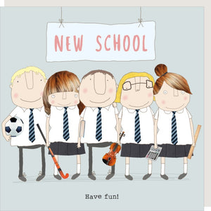 Rosie Made A Thing - New School - Greetings Card