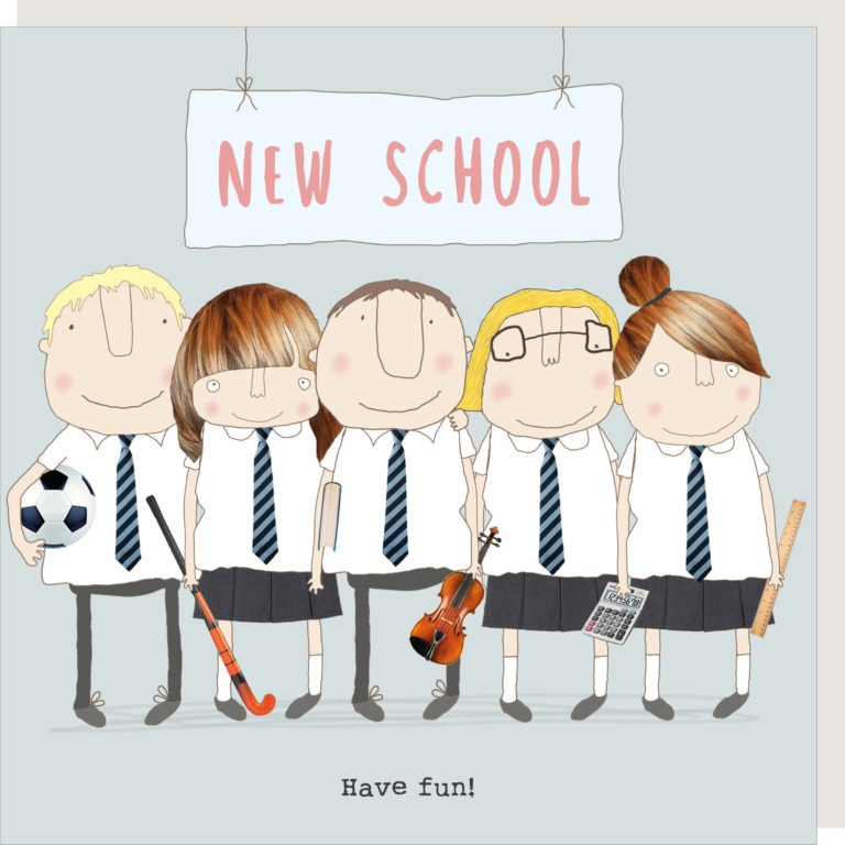 Rosie Made A Thing Greetings Card - New School