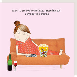 Rosie Made  A Thing Greetings Card - Saving The World