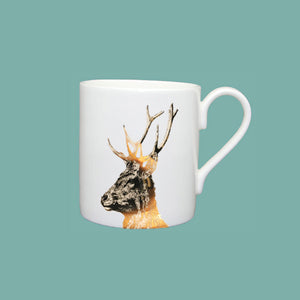 Little Weaver Arts - Gold Imperial Stag Mug