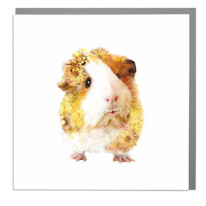 Lola Designs Ltd Greetings Card - A Wildlife Botanical Guinea Pig Greeting Card