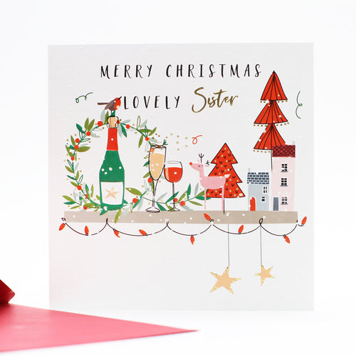 Belly Button Designs Christmas Cards - Merry Christmas Sister