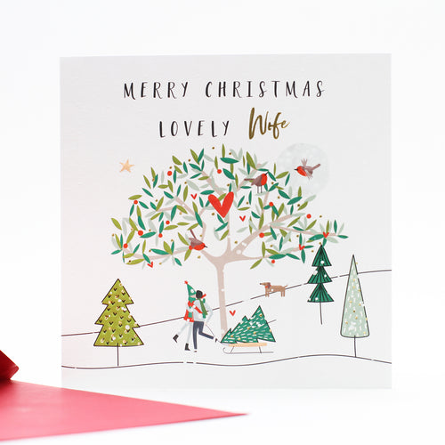 Belly Button Designs Christmas Cards - Merry Christmas Lovely Wife
