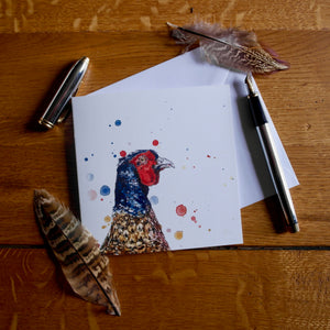 "Eleanor Tomlinson ""Pheasant"" Blank Greetings Card"