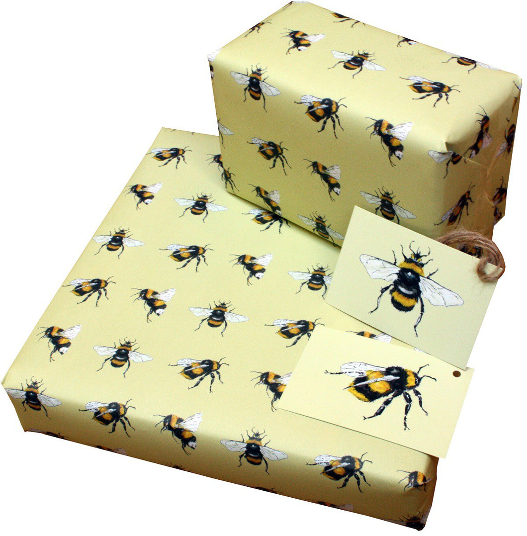Re Wrapped Recycled Wrapping Paper - Bees by Sophie Botsford