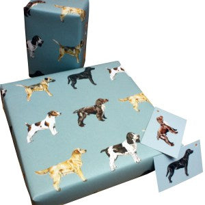 Re Wrapped Recycled Wrapping Paper - Dogs by Sophie Botsford