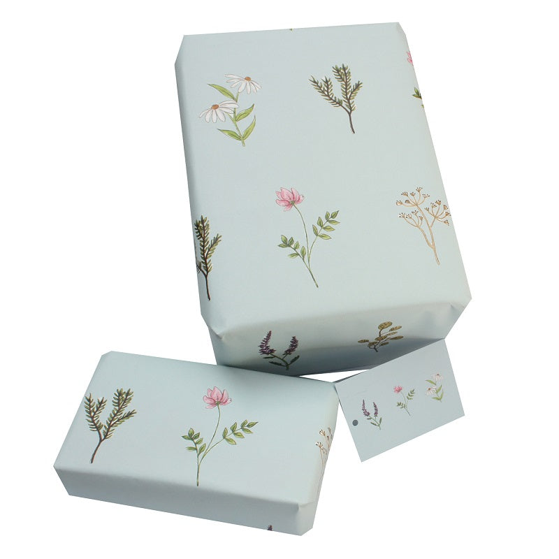 Re Wrapped Recycled Wrapping Paper - Wild Flowers by Sophie Botsford