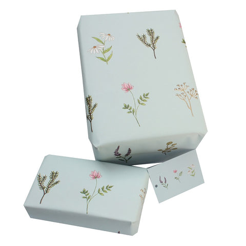 Recycled Wrapping Paper - Wild Flowers by Sophie Botsford