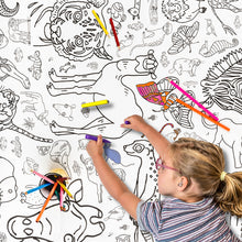 Eggnogg Colour-in Giant Poster / Tablecloth - Amazing Animals