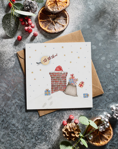 Lottie Murphy Christmas Chimmey Christmas Card