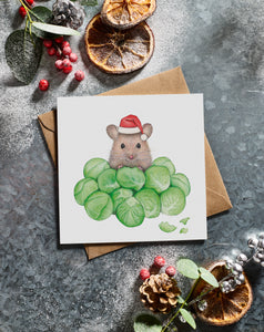 Lottie Murphy A Mouse in Brussel Sprouts Christmas Card