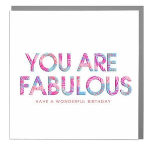 Lola Designs Ltd Greetings Card - You Are Fabulous - Hola 3d Neons