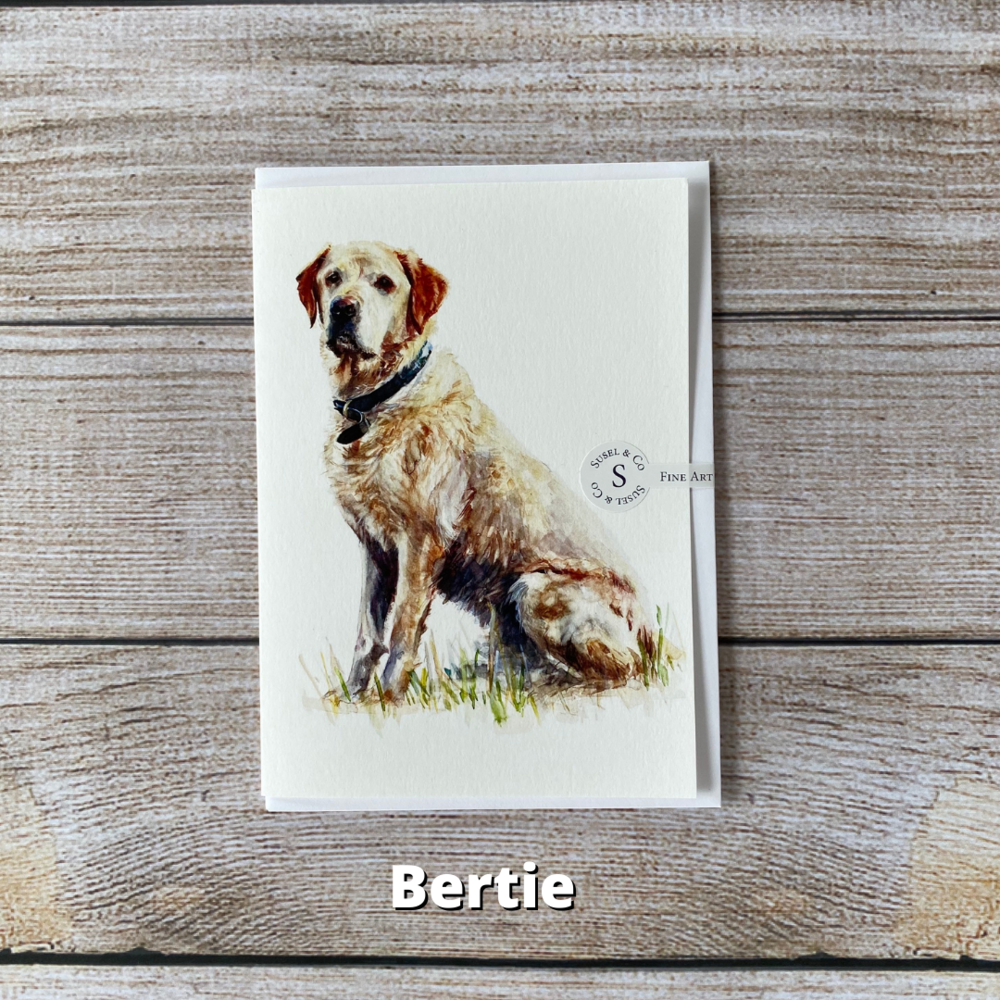 Susel and Co - A6 Blank Dog Breeds Greetings Card - Berti