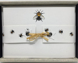 Susel and Co 20 Handmade Notecards - Queen Bee