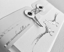 Susel and Co 20 Handmade Notecards - Brace of Silver Pheasants