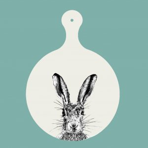 Little Weaver Arts - Sassy Hare Chopping Board
