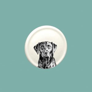 Little Weaver Arts - Black Labrador China Coaster