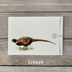 Susel and Co - A6 Blank Pheasant Greetings Card - Crouch