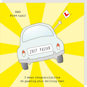Rosie Made A Thing Greetings Card - Driving Test