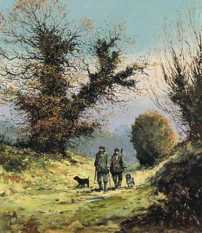 Jeremy Barlow Fine Art Greetings Card - Early Walk