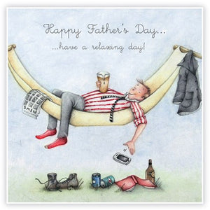Berni Parker Blank Greetings Card - Happy Father's Day ... Having a relaxing day!