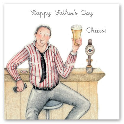 Berni Parker Blank Greetings Card - Happy Father's Day ... Cheers