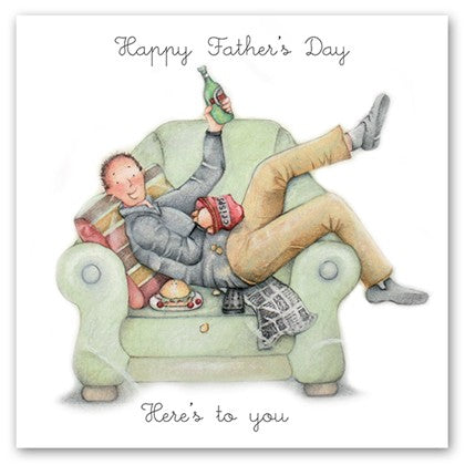 Berni Parker Blank Greetings Card - Happy Father's Day ... Here's To You