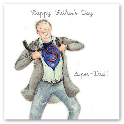 Berni Parker Blank Greetings Card - Happy Father's Day ... Super Dad