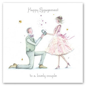 Berni Parker Blank Greetings Card - Happy Engagement to A Lovely Couple