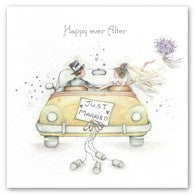 Berni Parker Blank Greetings Card - Happy Ever After