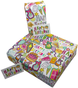 Re Wrapped Recycled Wrapping Paper - Delicious Birthday by Rosie Parkinson