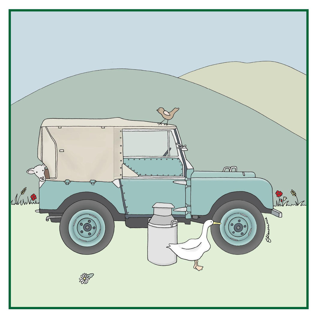 Land Rover Series 1 Greetings Card - Emma Lawrence