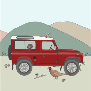 Land Rover Defender Greetings Card - Emma Lawrence