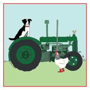 Fordson Tractor Greetings Card - Emma Lawrence