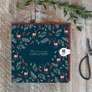 Toasted Crumpet Christmas Card - Stag Noir