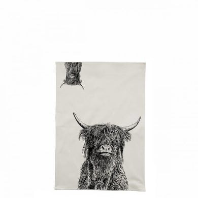 Little Weavers Arts - Crafty COO (Highland Cow) - Tea Towel