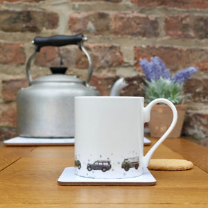 Eleanor Tomlinson Landrovers Mug