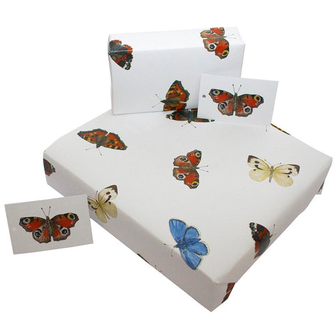 Re Wrapped Recycled Wrapping Paper - Butterlies by Sophie Botsford