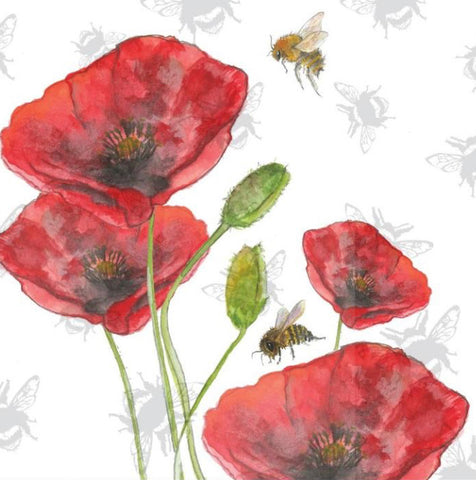 Sarah Broddy - Bee-tancial- Poppies