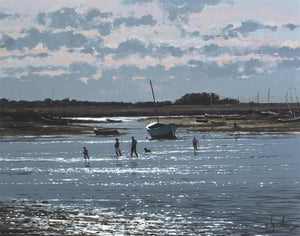 Jeremy Barlow Fine Art Greetings Card - Before The Tide, Burnham Overy Staithe
