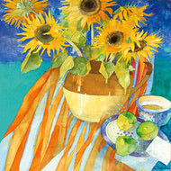 Eco Friendly Card Company - Shirley Trevena - Sunflowers and Apples