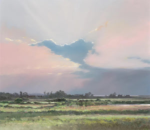 Jeremy Barlow Fine Art Greetings Card - Big Sky Over Burham Thorpe- Norfolk