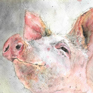 Pig Blank Greetings Card