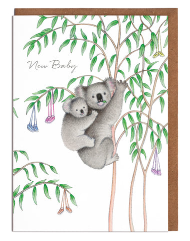 Lottie Murphy Greetings Card - New Baby