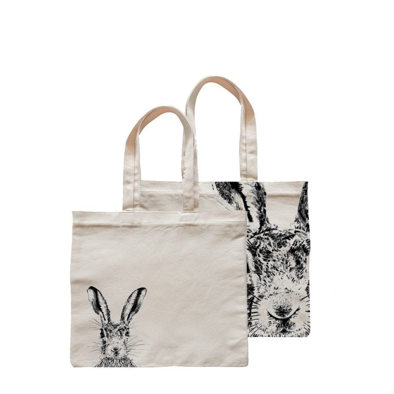 Little Weaver Arts - Sassy Hare Square Shopper Bag